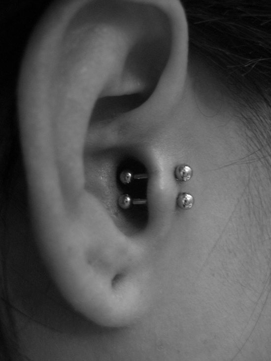 25 Cool ideas for tragus Piercings | Piercingeasily.com