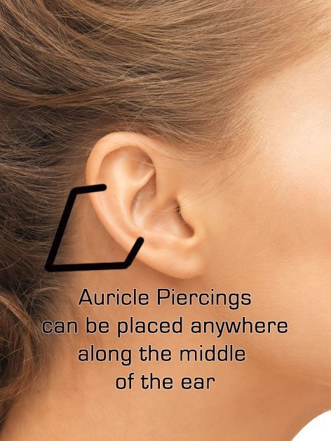 auricle piercing complate information guide with exles