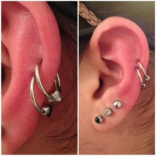Double Cartilage Piercing Information Guide With Example Pictures