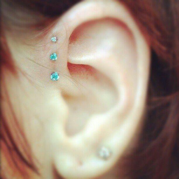 Triple Forward Helix Piercing Information guide with images Ear Piercings Triple Helix