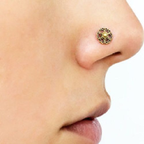 brass jewelry nose ring