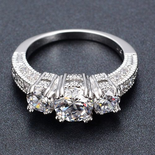 crystal finger ring