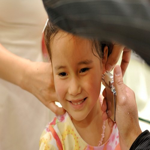 Childs Ear Piercing