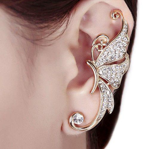 Women-fashion-font-b-Cute-b-font-Rhinestone-Crystal-Butterfly-Ear-Cuff-Clip-font-b-Cartilage