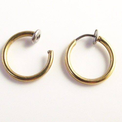 1pcs-Nostril-Gold-Silver-Black-Stainless-steel-Fake-Nose-Hoop-Nose-Rings-Clip-Lip-Ear-Piercing