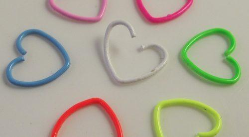 2-Piece-font-b-18G-b-font-neon-Color-Heart-Earring-font-b-Nose-b-font